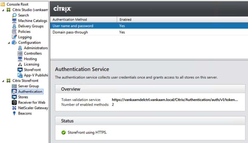 Citrix StoreFront… The tale of two Stores  Hiding, authentication